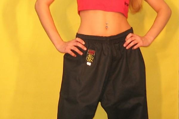 Kampfsport Hose aus Baumwolle schwarz